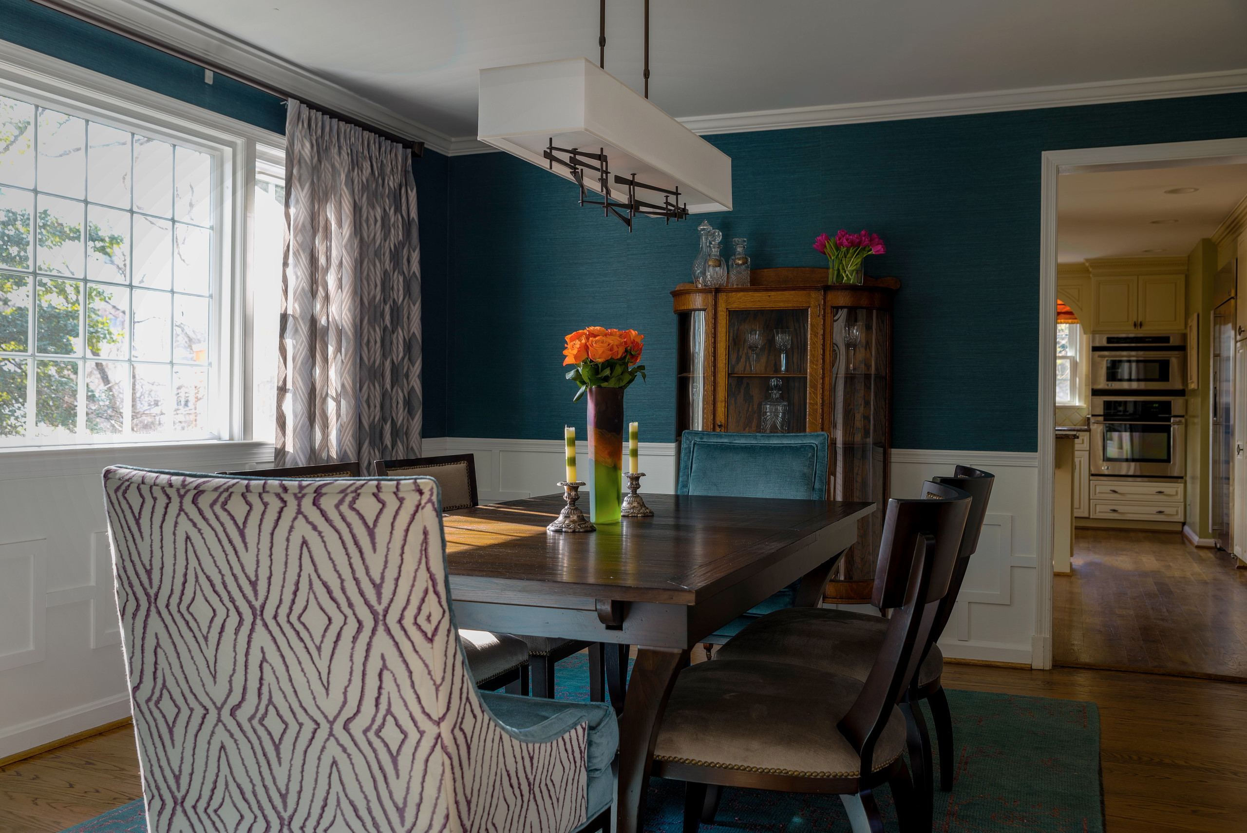 Jewel Toned Dining Room