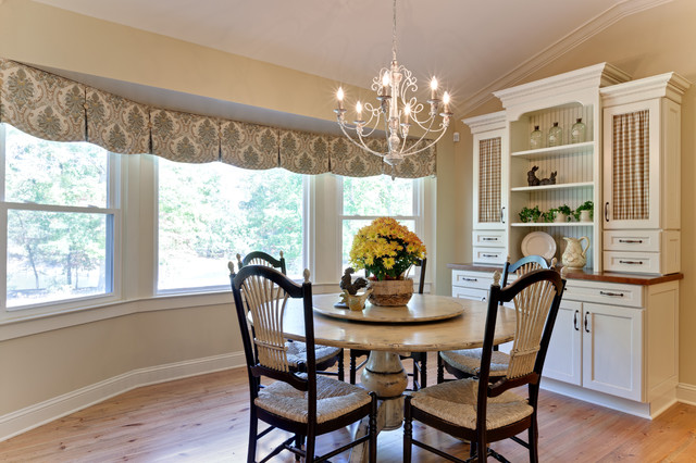 Johnson kitchen farmhouse dining room atlanta by for Dining room valance ideas