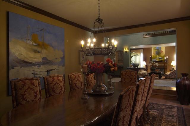 Joni Koenig Interiors mediterranean-dining-room