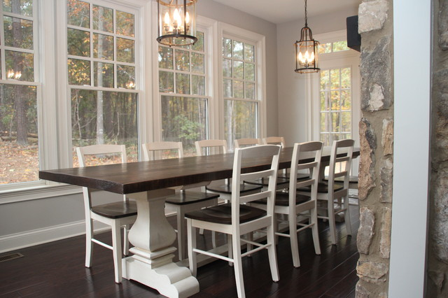 "Farmhouse Dining Room Tables josh leg"" pedestal base farm table - farmhouse - dining room"