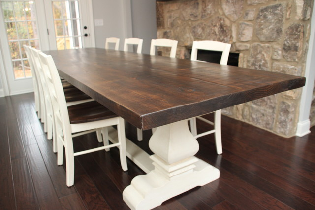 Josh Leg Pedestal Base Farm Table Country Dining Room