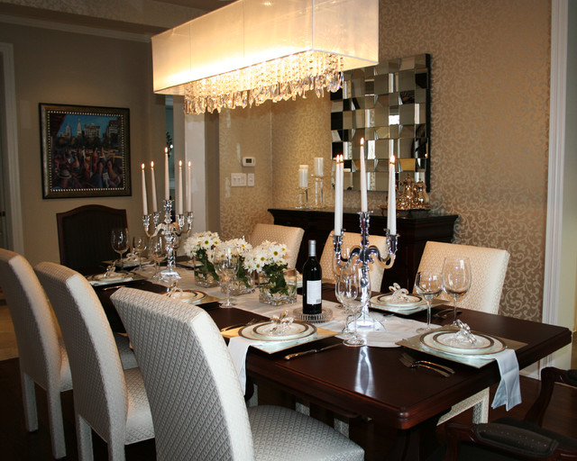 joshua creek transitional dining room toronto by decor by