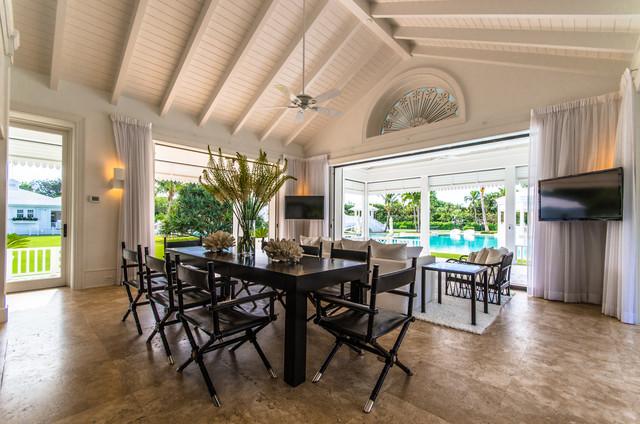 Jupiter island tropical dining room miami by for Garden room jupiters