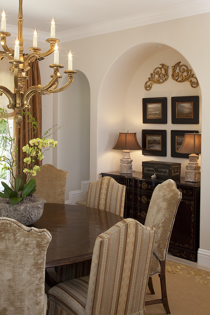 Kathy bloodworth traditional dining room san for Dining room niche ideas