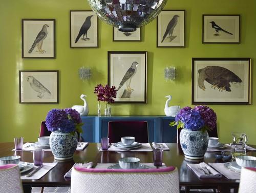 πράσινο, διακόσμηση, χρώμα, τοίχος, ζωγραφιές πουλιά