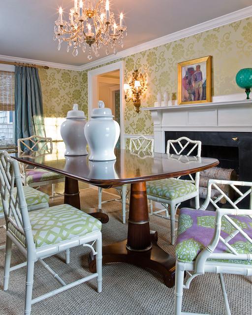 Katie Rosenfeld Interiors transitional-dining-room