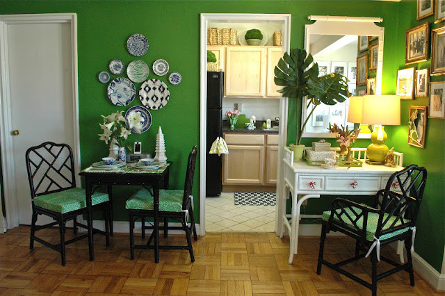 Kelly Green Trending Eclectic Dining Room New