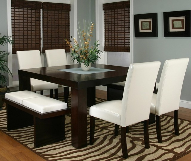 Kemper Two Cushion Bench Contemporary Dining Room  : contemporary dining room from www.houzz.com size 640 x 540 jpeg 83kB