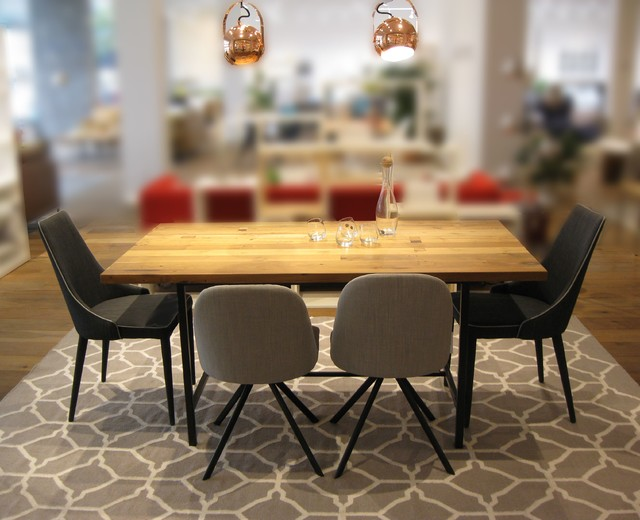 KENDALL RECLAIMED TEAK DINING TABLE Modern Dining Room