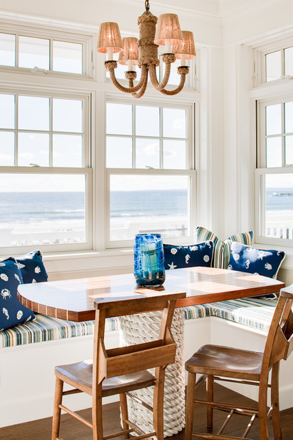 Kennebunk   Steps To The Beach Coastal Dining Room
