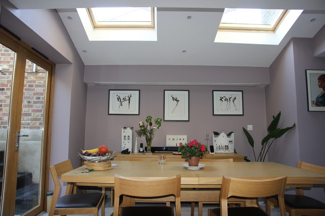 Kennington 4 Bed House Refurbishment And Side Extension Traditional Dining Room London