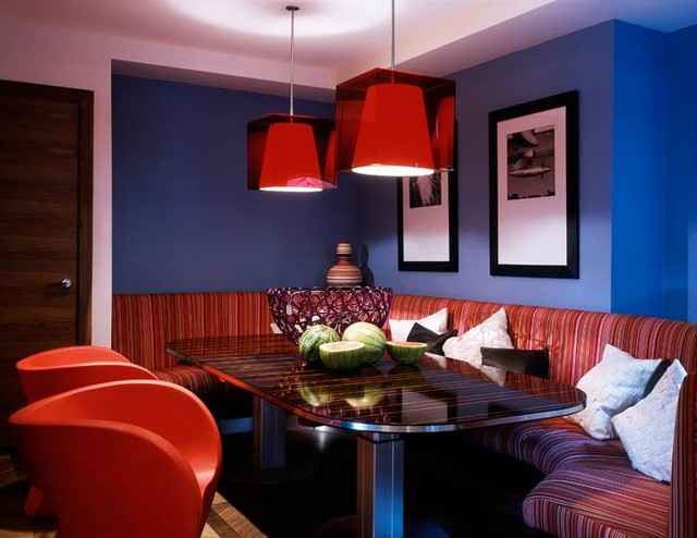 Kensington Apartment eclectic-dining-room