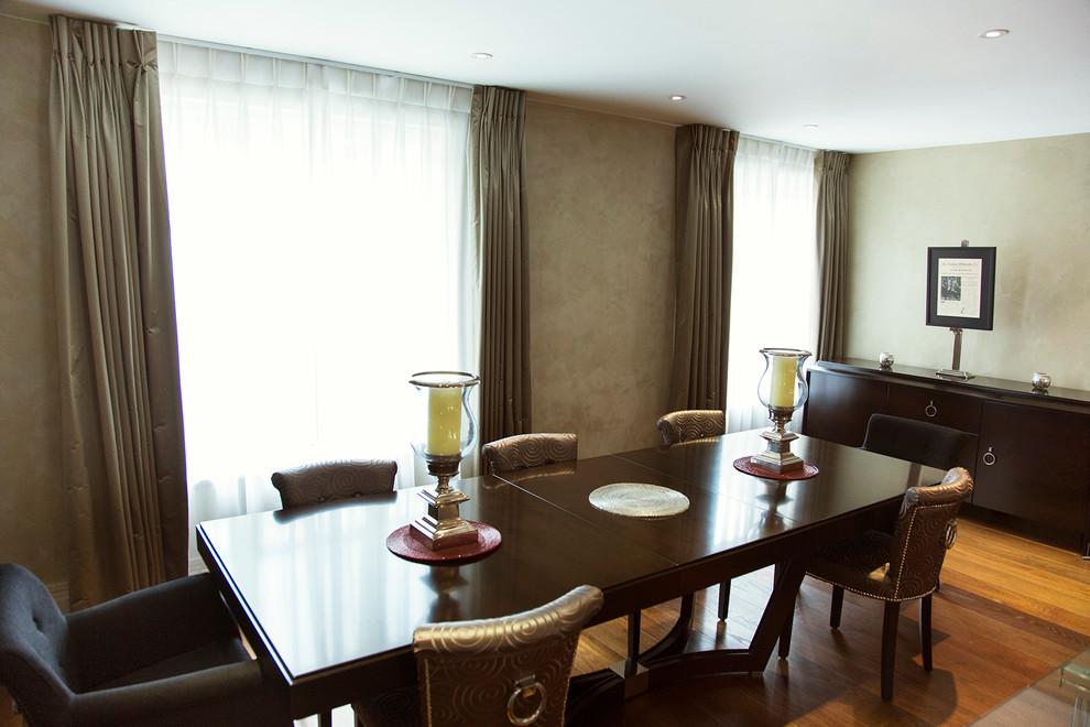 Elegant dining room photo in London