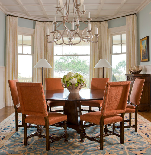 Traditional Dining Room Window Treatments