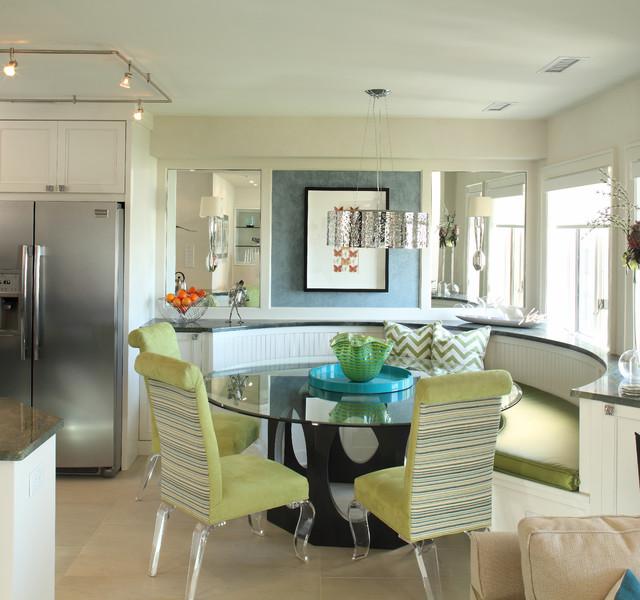 Kiawah island sc beachfront condo beach style dining for Beach condo interior design ideas