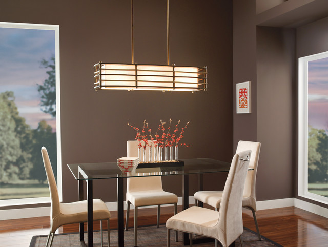 Kichler lighting 42061cmz moxie cambridge bronze linear pendant transitional dining room - Kichler dining room lighting ideas ...