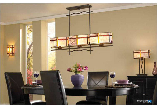 Ordinaire Kichler Lighting Tacoma Collection Craftsman Dining Room
