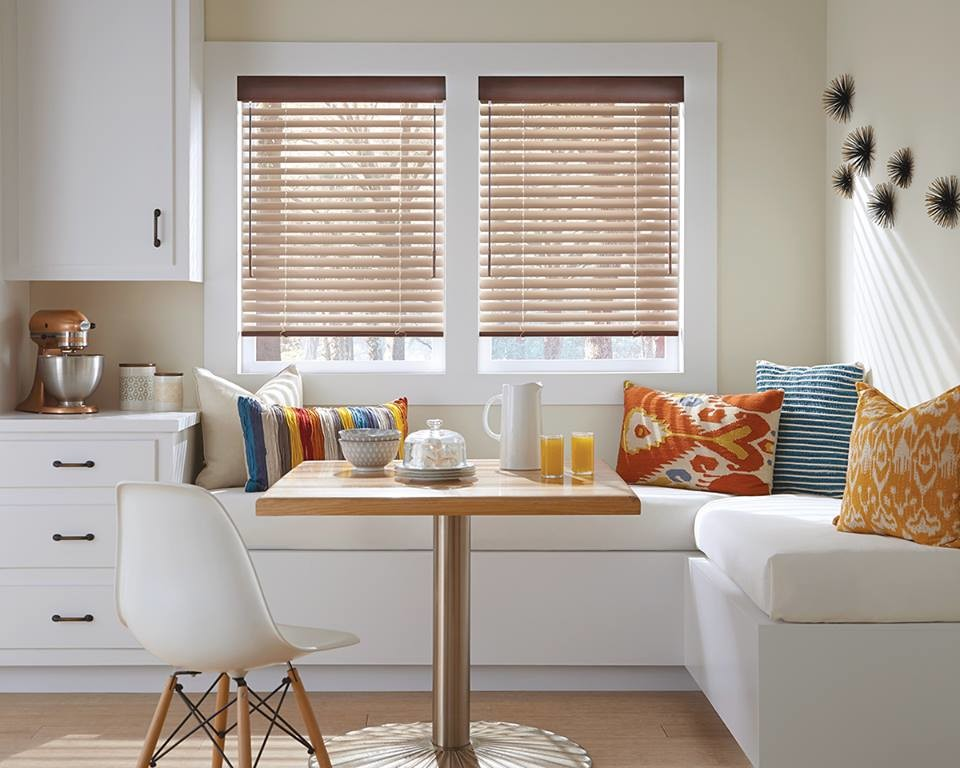 Kirsch Faux Wood Blinds Transitional Dining Room Other By Eastern Interiors