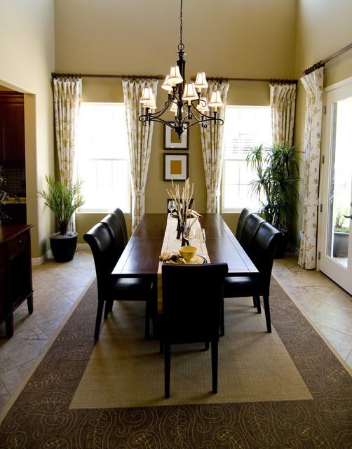 Kitchen dining window treatments modern dining room for Modern dining room window treatments