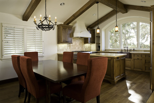 Transitional Kitchen & Dining room