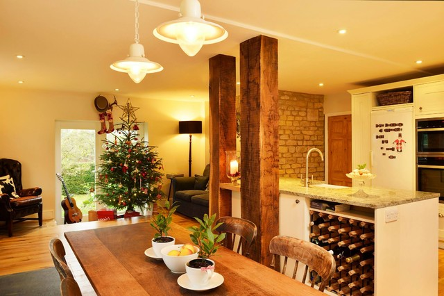 Kitchen Diner Knock Through Traditional Dining Room