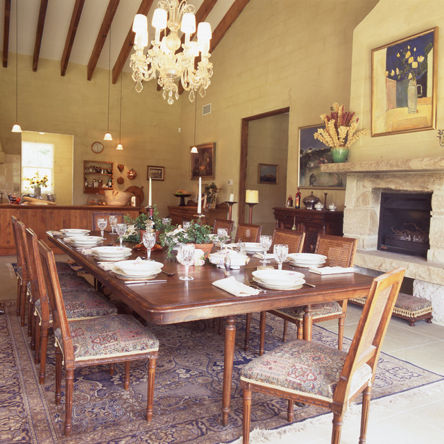Kitchen Dining Combined Farmhouse Dining Room