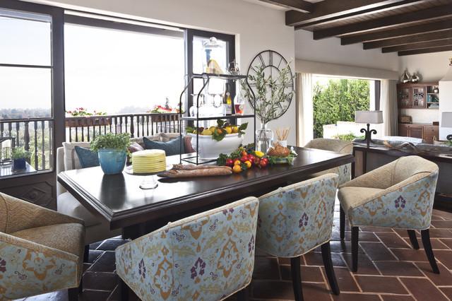 Kitchen dining space mediterranean-dining-room