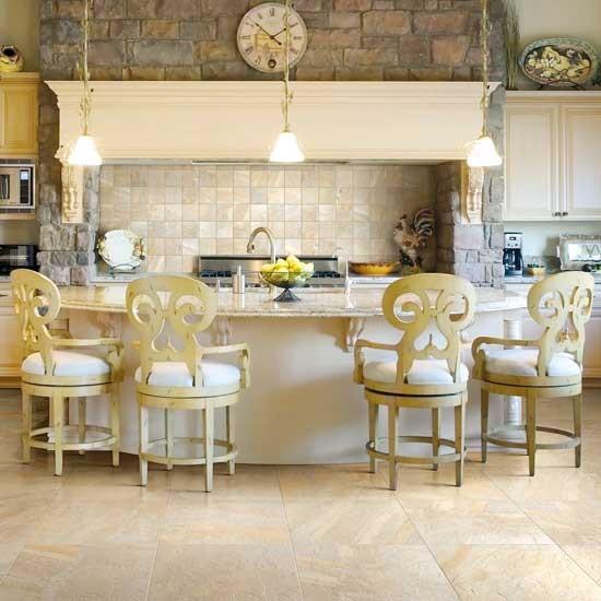 Kitchen Floor And Backsplash Traditional Dining Room