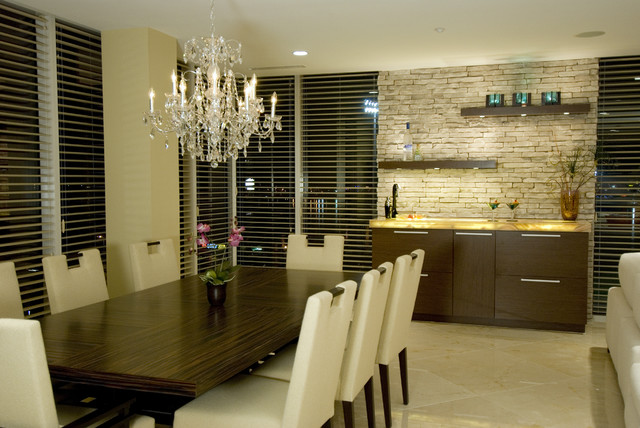 Kitchen for Wall designs for dining area