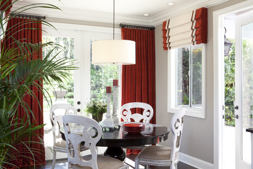 Roman Blinds And Curtains In Same Room Snakepress Com