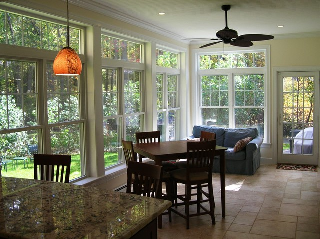 kitchen renovation and sunroom addition traditional dining room