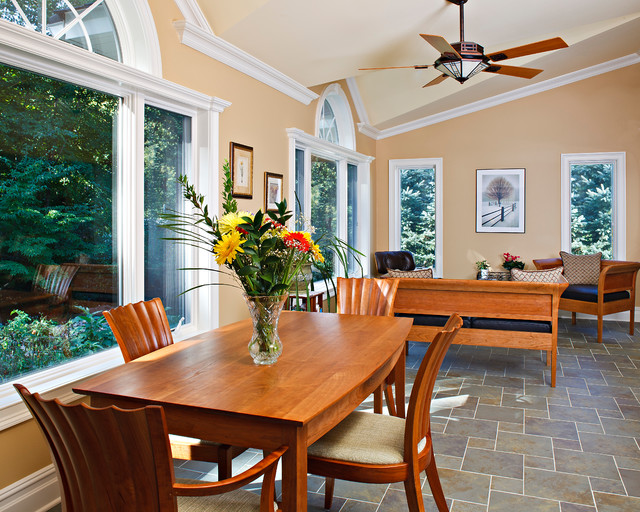 Kitchen Renovation With Large Windows And Sliding Patio
