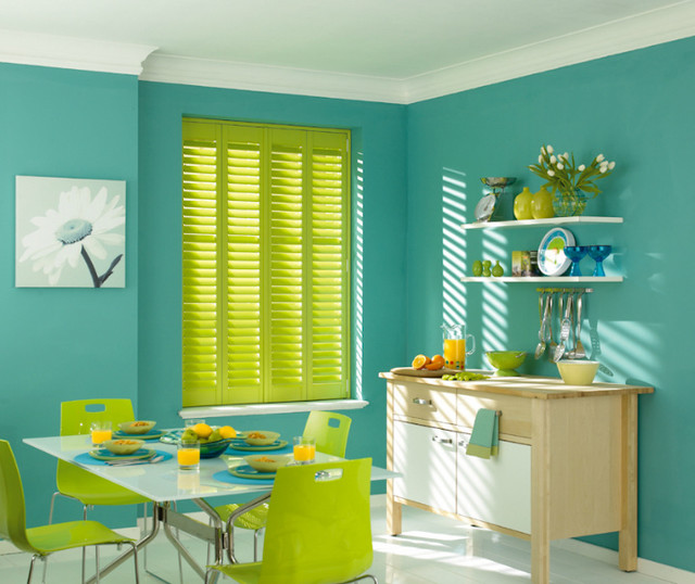 Kitchen Shutters eclectic-dining-room