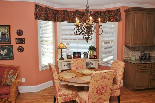 Kitchen sitting room screened porch fireplace for Traditional dining room fireplace