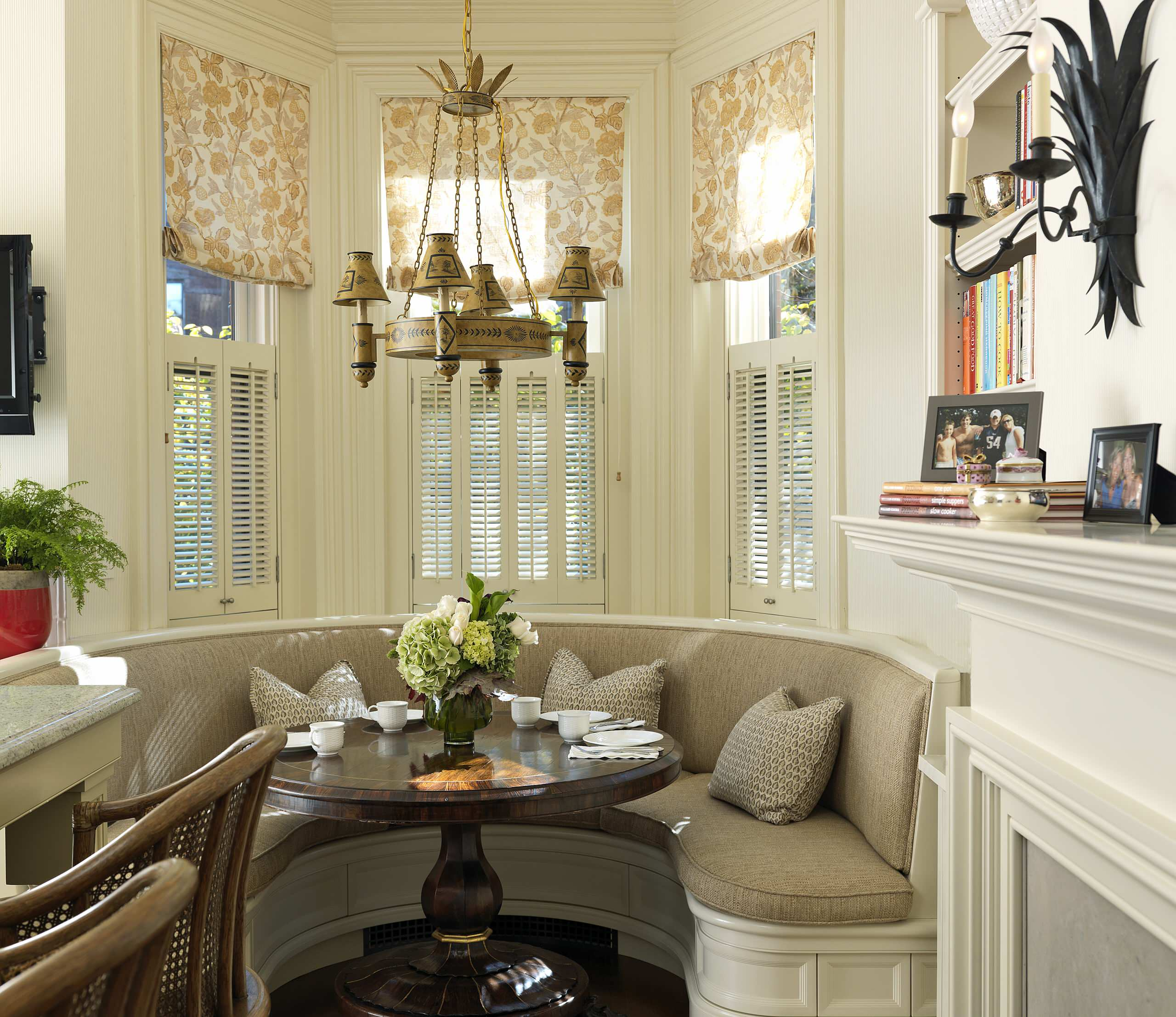 Breakfast Nook Window Treatment Ideas Houzz