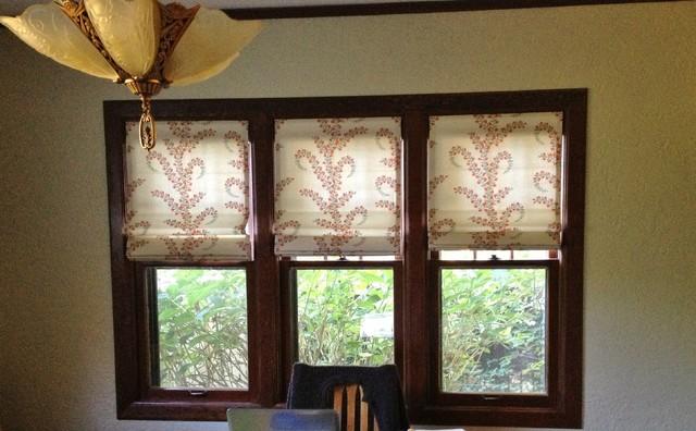 Knechtel D And Roman Shades Craftsman Dining Room