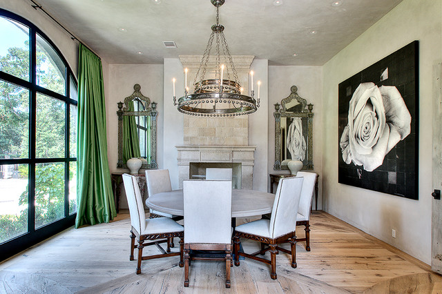 Knollwood-River Oaks contemporary-dining-room