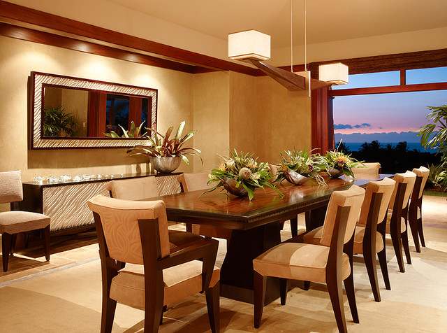 Kuikawa 3 tropical dining room hawaii by gm for Tropical dining room ideas