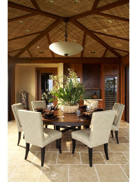 Hawaiian room design home design ideas pictures remodel for Tropical dining room ideas