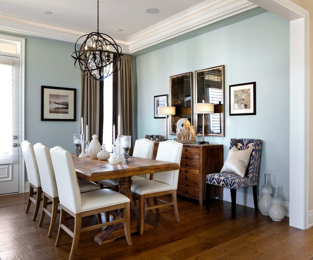Kylemore model home riley traditional dining room for Model home dining room