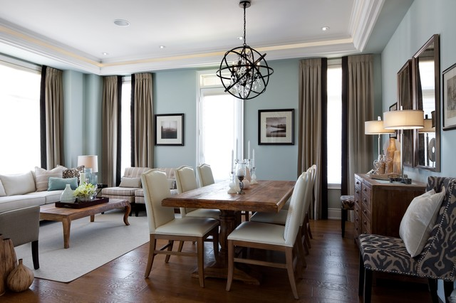 Kylemore Model Home Riley Traditional Dining Room Toronto By Jane Lockhart Interior Design