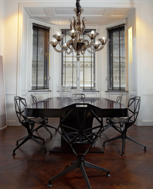 Contemporary Dining Room Chandeliers: L1430K8 8 Light Smoky Murano Glass Modern Chandelier