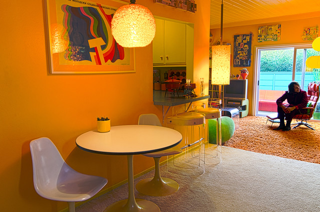 LA 70s Eclectic Dining Room