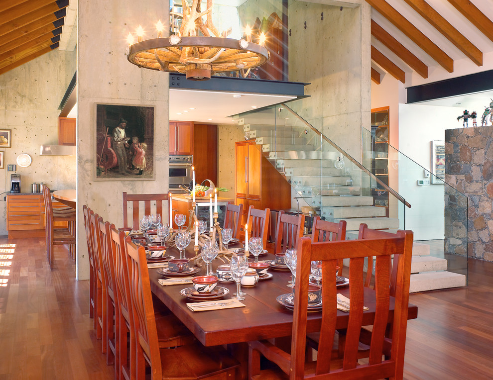 Example of a southwest dining room design in Los Angeles