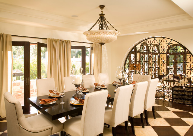 LA Itallian Villa Hillside Home Mediterranean Dining Room Los Angeles By Urban Colony