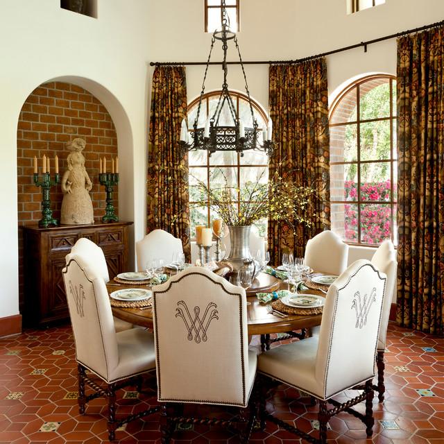 La quinta mediterranean dining room orange county for B q dining room ideas