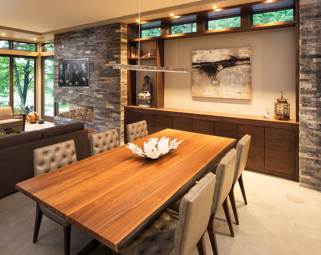 Lake Calhoun Organic Modern Dining Room