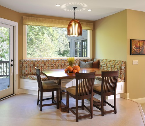 Kitchen Nook Measurements: Is This A Counter-height Banquette/chair Arrangement? It's