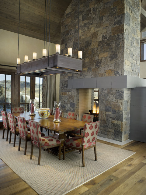Contemporary Dining Room by Slifer Designs