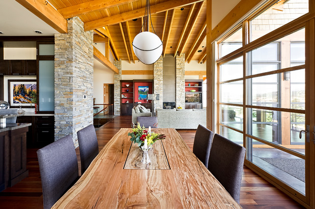 Perfect Lake Dream House Contemporary Dining Room
